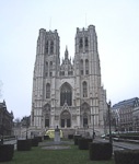 There are several large churches in Brussels, and the largest one is the St. Michael's Cathedral. This was built in 1226.