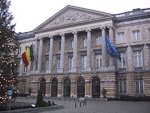 Not far from the EU headquarters is the Belgian Parliament building.