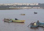 Boats on the Oued Bou Regreg, dividing Rabat and Salé.