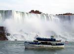 The best way to see the falls are from a boat. These boat trips run from both sides of the border.