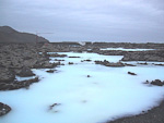 Near Keflavik airport is the Blue Lagoon, a man-made thermal spa which is one of the biggest tourist attractions in Iceland. The outflow from a nearby power station turns into a health resort. The rich mineral content of this water is supposed to be good for the skin.