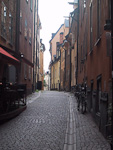There are many narrow streets in Gamla stan...