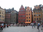 The red building in the middle has 80 white spots, in rememberance of the 80 noblemen who were beheaded here in 1520, after orders from the Danish King Christian II.
