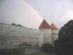 The cannon tower Kiek-in-de-Kök from 1475. It is 50 meters tall, and 18 meters in diameter.