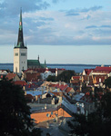 Tallin is the best preserved city from the Middle Ages in the Baltics. St Olav's Church (Oleviste kirik) is first mentioned in books from 1267. The origin of the name is not totally clear, but one theory is that it is from the Norwegian king, Olav.