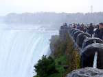 Tourists can walk all the way up to the Horseshoe Falls. There are also tunnels under the falls.