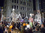 The parade kicked off at 7 pm on Halloween night, October 31st. The route was along 6th Avenue.