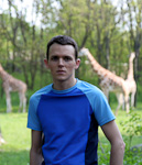 Me and the giraffes.