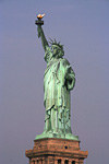 The official name of the statue is Liberty Enlightening the World. It was a gift from France to the USA to mark 100 years of independence from the Brits. But the project was delayed because of lack of funds. The statue was finished in 1886, 10 years after the centenniel.
