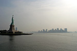 Statue of Liberty and Downtown Manhattan.