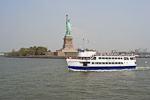 There are boats going to Ellis Island and Liberty Island from both Manhattan and Jersey City, as well as between the two islands.