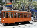 A tram on Market Street.