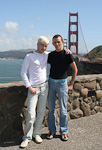 Anton and I in front of the most famous symbol of San Francisco, the Golden Gate Bridge.