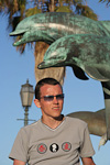 Me in front of a monument to commemorate the bicentennial of the city of Santa Barbara. The city was founded in 1782.