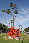 The sculpture Sisyphus close to the Beverly Hills CIty Hall.