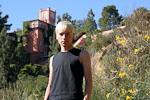 Anton in front of the former Hollywood home of Madonna, 6342 Mulholland Highway