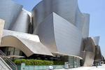 The Disney Concert Hall, designed by Frank Gehry, was completed in 2003.