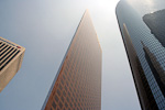The Wells Fargo Tower was built in 1983, and is 220 meter tall.