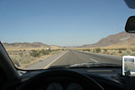 We hired a car and drove a total of 4000 km (2500 miles) on our vacation in the western USA.