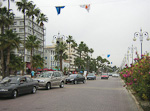 The promenade along the beach in Larnaca.