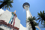The Stratosphere is the tallest freestanding observation tower in the USA, with 350 meters (1149 ft).