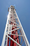 Big Shot, at the top of the Stratosphere, shoots riders 50 meters (160 ft) up into the air, before they freefall back down.