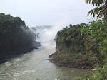 To the right is Isla Grande San Martin, which is surrounded by water and waterfalls.