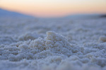 The deepest part of Death Valley, Badwater Basin, is covered by salt.