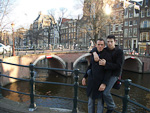 Anton and me in Amsterdam.