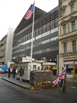 Checkpoint Charlie was once one of three point where it was possible to cross the border between East and West.