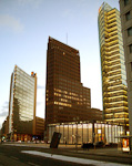 Potsdamer Platz was for many years no-man\'s land at the border between East and West. After the fall of the Wall, the area has now been redesigned to be the new commercial and entertainment center of the city.
