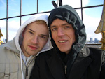 It was very cold when we were in Berlin, and especially on the top of the column.