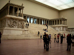 The more than 2000 years old Pergamon Altar inside the Pergamon Museum.