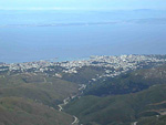 This picture shows the city of Chios, and on the other side of the sea is Turkey, where we spent one day.