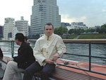 During the weekend, I took the ferry up Sumida-gawa to Asakusa to see some old temples.