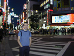 Shinjuku is one of the night life spots of Tokyo.