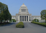 The National Diet Building (parliament) looks pretty funny. The construction started in 1920, but it took 16 years to complete. The pace was slowed down by the generals in control of the government - they did not want a parliament that would interfer with their business.