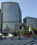 This is also in Ginza, but on a day when the sky was blue.