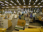 The market consists of several large storage halls - quite an impressive area.