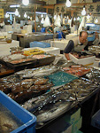 There are over 400 different types of seafood at sale at the market.