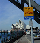 There were special regulations for the area around the time of the Olympics. This picture was taken under the Harbour Bridge.