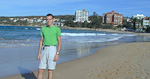 Here I am at Manly Beach, which is a short ferry ride north of the city.