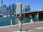 This is me in Darling Harbour. In the upper left corner of the picture is the Centre Point Tower.