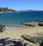 Camp Cove beach near the entrance to Sydney Harbour. Not very crowded, even though it is only a 15 minutes drive from central Sydney, a city with 4 million people.