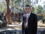 I am inside the area where the kangaroos live.