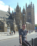 Behind me is the Westminster Hall.