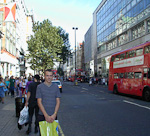 The last point on the agenda before the evening was some shopping in Oxford Street.