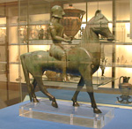 This horse figure is from southern Italy.