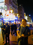 André at a more crowded place - Leicester Square.