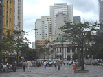 Teatro Municipal at Praca Floriano in Centro. Praca Floriano is the heart of Rio.